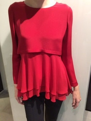 Georges Rech Red Layered Blouse