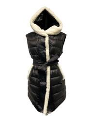 Violanti Padded Nylon Vest with Sheepskin Details