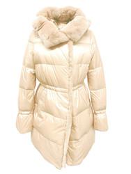 Violanti Down Puffer Fur Jacket with Details