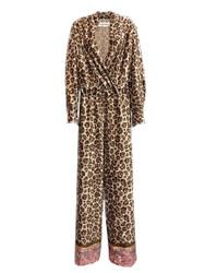 Violanti Printed Chinille Velvet Jumpsuit