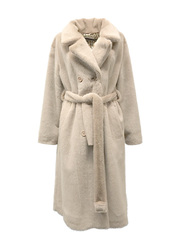 Violanti Long Double Breasted Eco Fur Coat