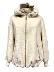 Violanti Shearling and Leather Blend Sheepskin Bomber