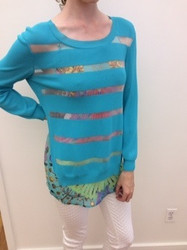 Roberto Cavalli Teal Sweater