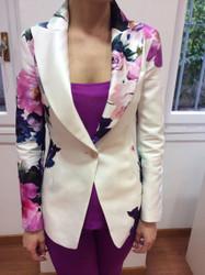 Tomaso Stefanelli White Floral Jacket
