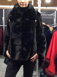 Gorski Waist Length Fur Coat