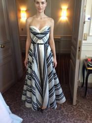 Marchesa Low-Cut Strapless Dress
