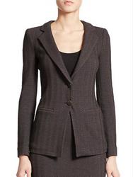 Armani Collezioni Herringbone Two-Button Jacket
