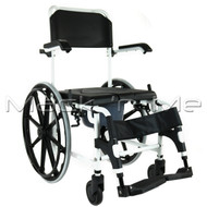 Affinity® Self-propelled Shower Chair / Commode Aluminium Fold-up Footrest