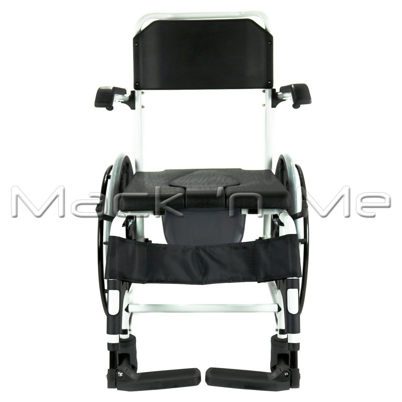 Affinity Self Propelled Shower Chair Commode Aluminium