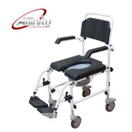 Affinity® Attendant-propelled Shower Chair / Commode Aluminium Fold-up Footrest