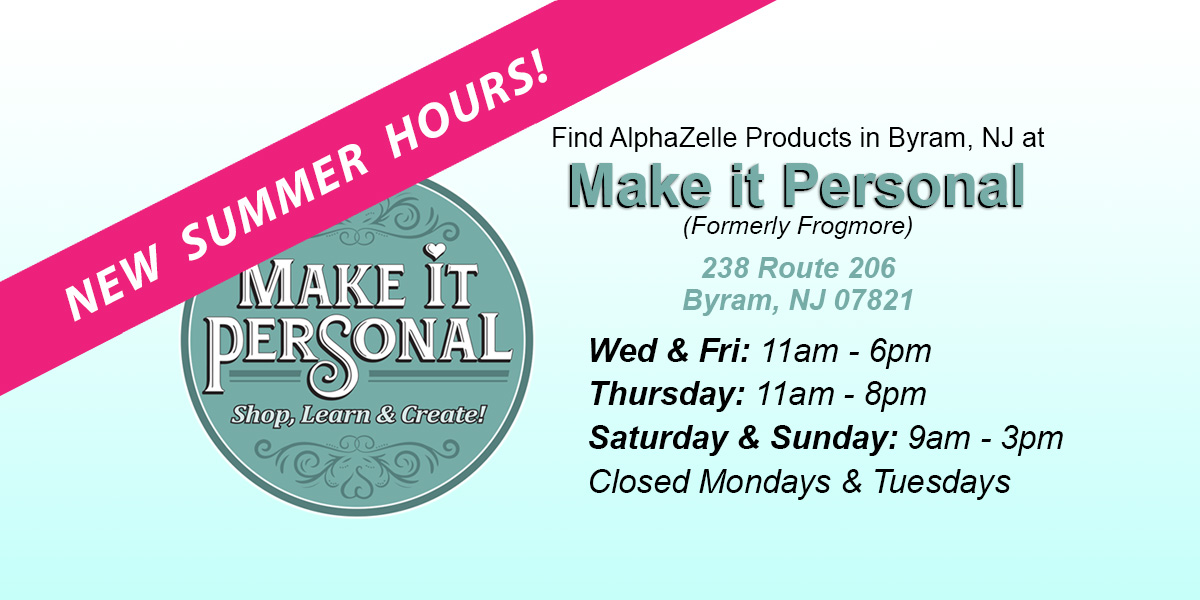 Shop for AlphaZelle at Make It Personal in Byram, NJ