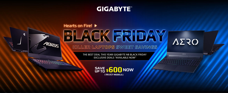 Gigabyte Aorus laptops save up to$600 on Black Friday promotion