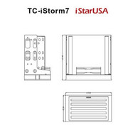 iStarUSA TC-ISTORM7 Internal Mounting Cooling Kit w Removable Filter