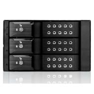 iStarUSA BPN-DE230SS-BLACK 2x5.25 to 3x3.5 SAS Cage Black