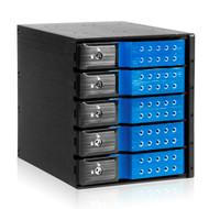 iStarUSA BPN-DE350SS-BLUE 3x5.25 to 5x3.5 Trayless Blue