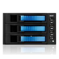 iStarUSA BPU-230SATA-BLUE 2x5.25-3x3.5 SATA Cage-Blue