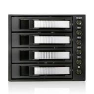 iStarUSA BPU-340SATA-SILVER 3x5.25 to 4x3.5SATA Cage-Sil