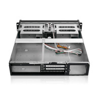 iStarUSA D-200SEA 2U Compact Rackmount Chassis with SEA Bezel Blue