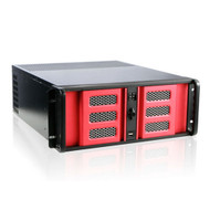 iStarUSA D-400-6SE-RD 4U Compact Stylish Rackmount Chassis Red