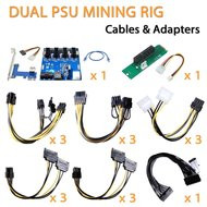 AAAwave Dual power supply rig - cables & Adapters