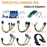 AAAwaveTriple power supply rig - cables & adapters