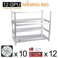 AAAwave Mining Case 12 GPU+FAN ARCTIC F12 silent Cooling ACFAN00027A by ARCTIC x 10 + PCI RISER x 12