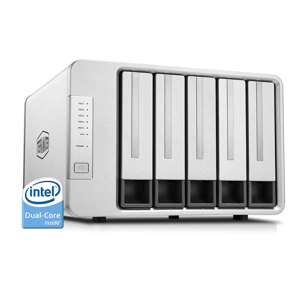 TerraMaster F5-221 NAS 5-Bay Cloud Storage Intel Dual Core 2 0GHz Plex  Media Server Network Storage (Diskless)