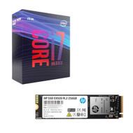Intel BX80684I79700K Core i7-9700K Processor +HP 2YY45AA#ABC EX920 M.2 256GB SSD