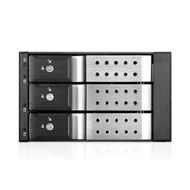 iStarUSA BPN-DE230HD-SILVER Trayless 2X 5.25 to 3X 3.5 12Gb/s HDD Hot-swap Rack