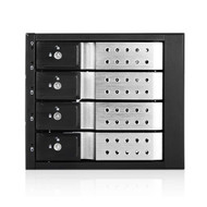 iStarUSA BPN-DE340HD-SILVER Trayless 3X 5.25 to 4X 3.5 12Gb/s HDD Hot-swap Rack