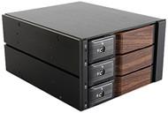 iStarUSA BPN-DE230SS-WB Hot-Swap Rack With Wood Look Bezel - 2 x 5.25 to 3 x 3.5 in.