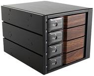 iStarUSA BPN-DE340SS-WB Hot-Swap Rack With Wood Look Bezel - 3 x 5.25 to 4 x 3.5 in.