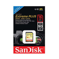SanDisk SDSDXSF-016G-ANCIN Extreme SDHC 16GB Class 10/UHS-I Memory Card