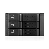 "iStarUSA BPN-DE230HD-BLACK 2x5.25"" to 3x3.5"" 12Gb/s Cage Black"