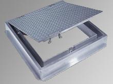 Acudor 24 x 24 Watertight Floor Door - Cast in place - 300 lbs / sqft loading - Acudor