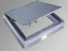 Acudor 30 x 30 Watertight Floor Door - Cast in place - 300 lbs / sqft loading - Acudor