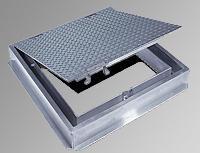 Acudor 36 x 36 Floor Door, Channel Frame, H20 Loading - Acudor