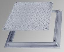 Acudor 24 x 24 Removeable Flush Floor Door - Diamond Plate - Acudor