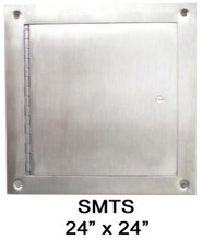 JL Industries 24 x 24 Surface-Mount Access Panel - Interior Walls and Ceilings - Stainless Steel