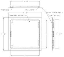 Acudor 12 x 12 Flush Plastic Access Door - Acudor