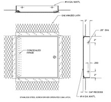 Acudor 24 x 24 Flush Access Door for Plaster Walls and Ceilings - Acudor