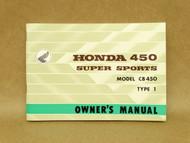 NOS Honda CB450 K0 Type 1 Black Bomber Owners Manual 11/1965 Print Date