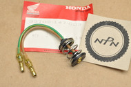 NOS Honda CB750 CB125 CT70 CT90 CT110 CX500 GB500 GL1100 GL1200 TLR200 XL200 XL250 XL350 XL600 XR250 Tail Light Lamp Socket Harness 33708-147-003
