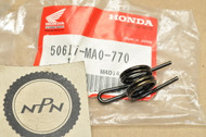 NOS Honda CR125 CR250 CR80 XL250 XR200 XR250 XR350 XR500 XR80 Foot Rest Step Peg Return Spring 50617-MA0-770