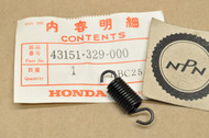 NOS Honda ATC250 CB125 CB250 CB450 CR250 CR500 XL250 XL350 XL600 Rear Brake Shoe Spring 43151-329-000