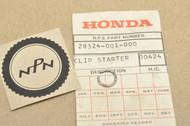 NOS Honda C70 CB200 CL175 CL90 CL70 CT70 CT90 QA50 S65 S90 SL175 SL70 XL70 KIck Starter Clip 28324-001-000