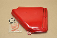 NOS Honda 1976 CB360 T  Candy Ruby Red Right Side Cover Panel 83600-369-000ZB