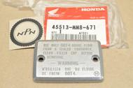 NOS Honda 1987-96 VT1100 Shadow Master Cylinder Oil Cup Cap 45513-MM8-671