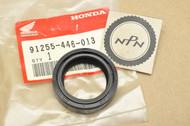 NOS Honda CM185 T CM200 T CR80 R XL125 XL185 XR185 Front Fork Oil Seal 91255-446-013