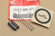 NOS Honda XR50 R Z50 R Carburetor Throttle Valve Slide & Spring 16022-GW8-671